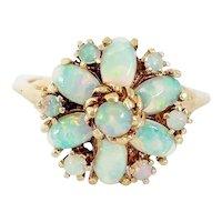 14kt Opal Cluster Ring