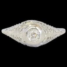 Edwardian 18kt Diamond Ring