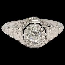 Edwardian 18kt Old Mine cut Diamond Ring