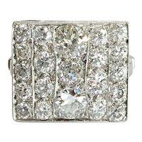 Platinum Old Mine cut Diamond Ring