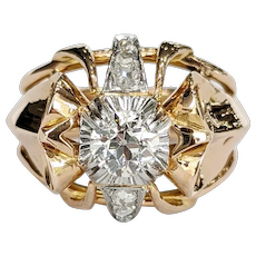 Victorian 18kt Two-tone Diamond Ring