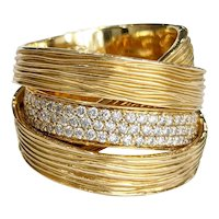 18k Gold and Diamond Wrap Ring