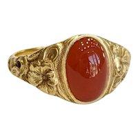 14kt Carnelian Ring