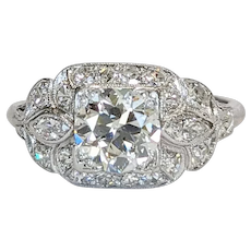 Platinum / 14kt  Diamond Engagement Ring