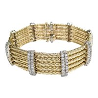 14kt Two-tone Diamond Bracelet