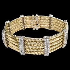 14kt Two-tone Diamond Bracelet