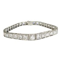 Platinum Straightline Diamond Bracelet
