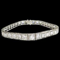 Platinum Straightline Diamond Bracelet