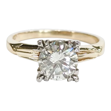 Two-tone Solitaire Diamond Ring
