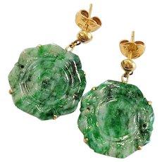 18kt Jade Earrings