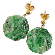 18kt Jade Earrings