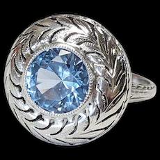 14kt Aquamarine Ring