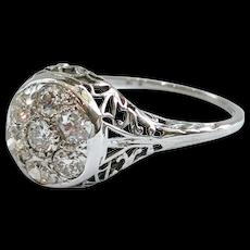 18kt Diamond Cluster Ring