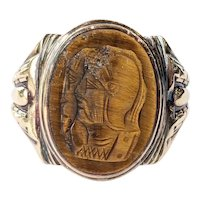 Victorian 10kt Tigers Eye Ring