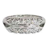 14kt Single cut Diamond Band