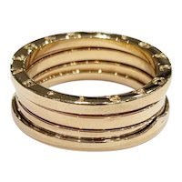 BVLGARI B.zero1 18kt Four Row Band
