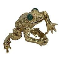 Kurt Wayne 18kt Stamped 1969 Frog Ring