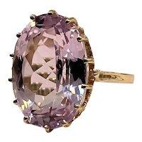14kt Pink Topaz Ring