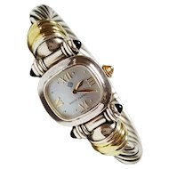 David Yurman Sterling Silver and 14 Karat Yellow Gold Wrist Watch