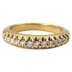 14 Karat Yellow Gold Prong Set Diamond Band
