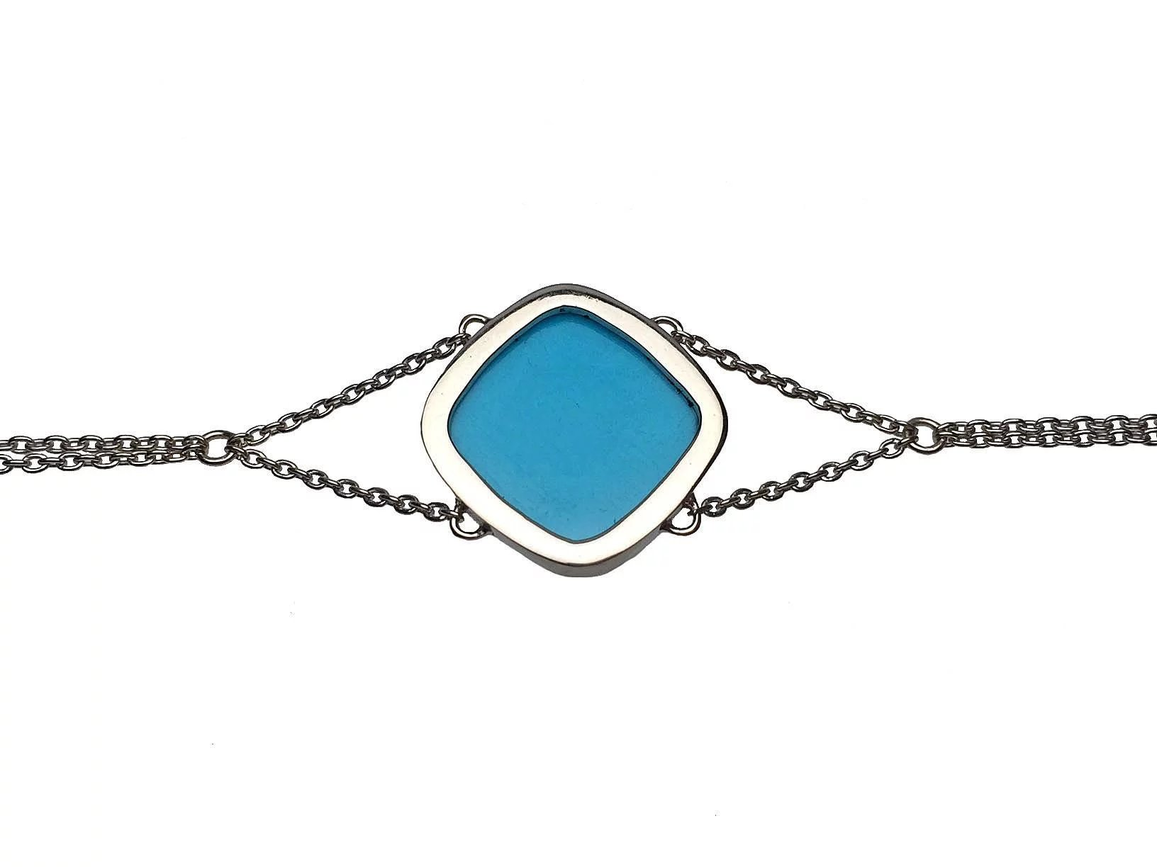 14 karat white gold turquoise bracelet lippa 39 s estate for Estate jewelry burlington vt