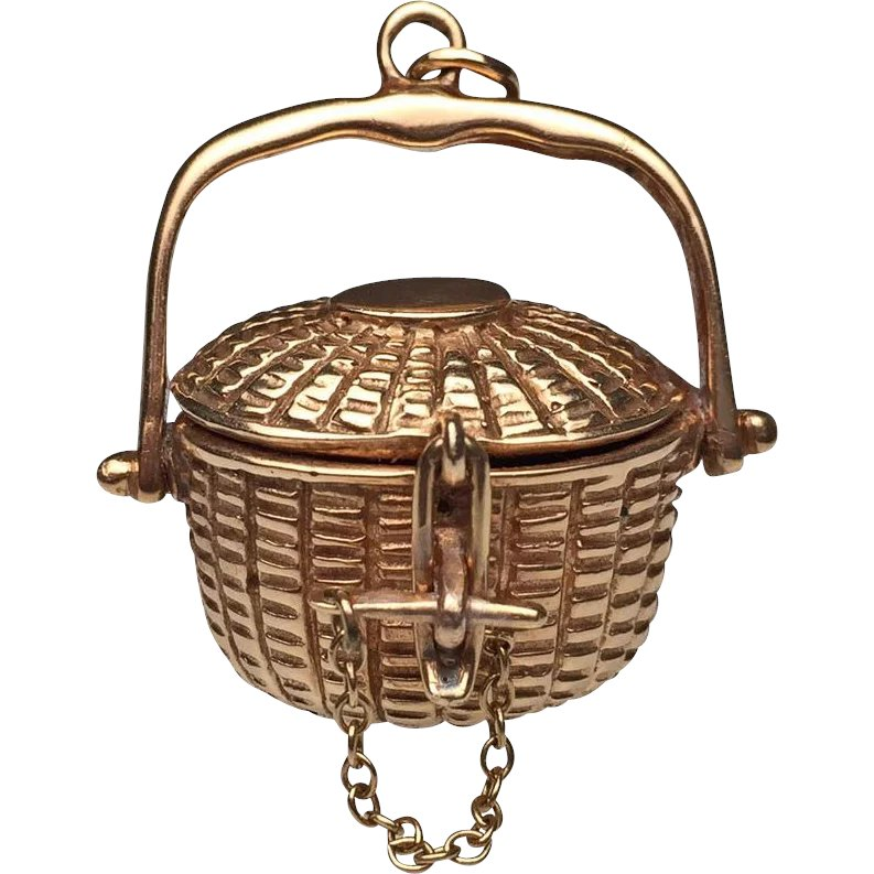 14 karat yellow gold nantucket basket lippa 39 s estate and for Estate jewelry burlington vt
