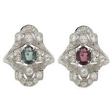 Platinum, Edwardian, Alexandrite and Diamond Ring