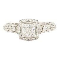 """18 Karat White Gold 0.84 Carat Forever Mark """"Devotion"""" Diamond Engagement Ring"""