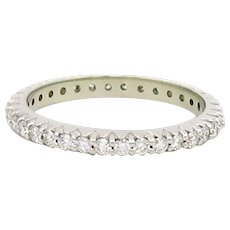 Diamond Eternity Band 0.68 Carat Total Weight | 14 Karat White Gold