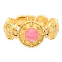 Denise Roberge 18 Karat Pink Tourmaline and Diamond Bracelet