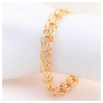 Vintage 14K Gold Fancy Link Bracelet