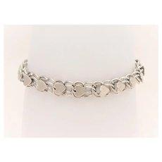 Vintage Sterling Silver Heart Link/Charm Bracelet