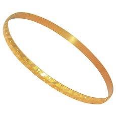 Vintage Persian 21 Karat Gold Bangle Bracelet