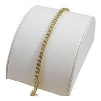 14 karat Yellow Gold 2 ¼ carat Diamond S-link Tennis Bracelet