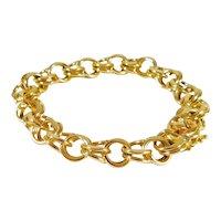14k Gold Fancy Link Bracelet
