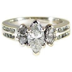 Breathtaking Handmade 14k Ladies Diamond Engagement Ring