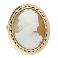 14k Gold Antique Cameo Brooch/Pendant