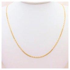 Diamond-Cut 14k Gold 20 inch/2mm Fancy Figaro Chain