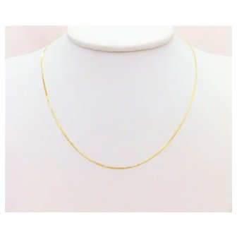Italian 14.5 inch/1.2mm 14k Yellow Gold S Link Chain