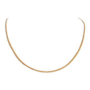 Vintage 19 inch 22k Yellow Gold Cuban Link Chain