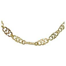 18 karat Yellow Gold 28 inch, 5 mm Fancy Link Chain