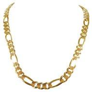 14k Italian Yellow Gold Figaro Chain