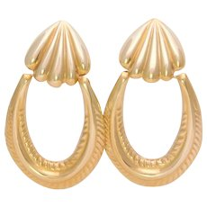 Vintage Retro 14k Gold Dangle Earrings