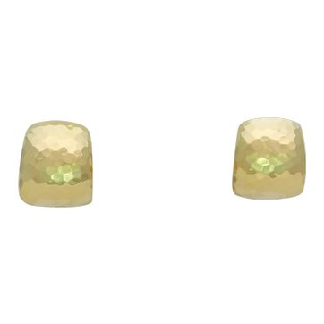 """Signed Solid 18k Gold Roberto Coin Hammered """"Huggie"""" Earrings"""