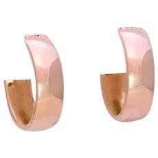 Italian Crafted 14k Gold Hoop Earrings