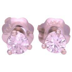 14k White Gold 0.20ct Natural Diamond Stud Earrings