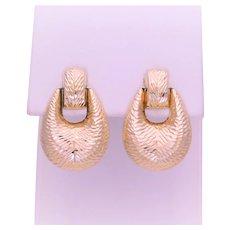 Vintage 14k Gold Faceted Dangle Earrings