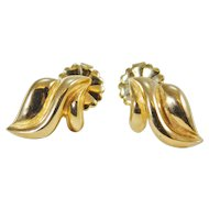 14 Karat Yellow Gold Stylish Earrings