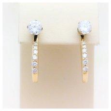 14kt Diamond Dangle Earring Jackets