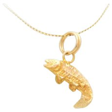 14k Gold Fish Charm/Pendant